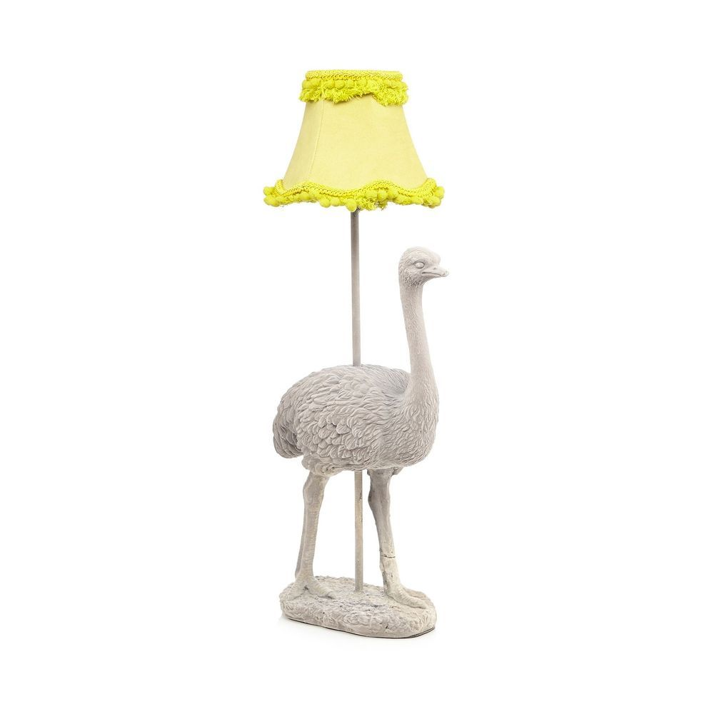 Abigail Ahern/Edition Grey Ostrich Lamp From Debenhams