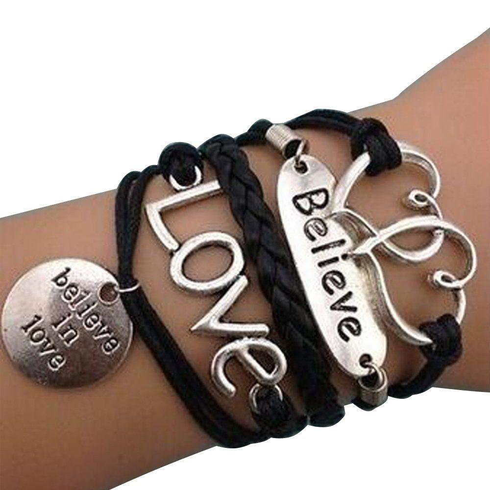 Amazon sister bracelet multilayer braided vintage bracelets