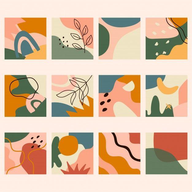Conjunto De Fundos Abstratos. Diferentes Formas Ab