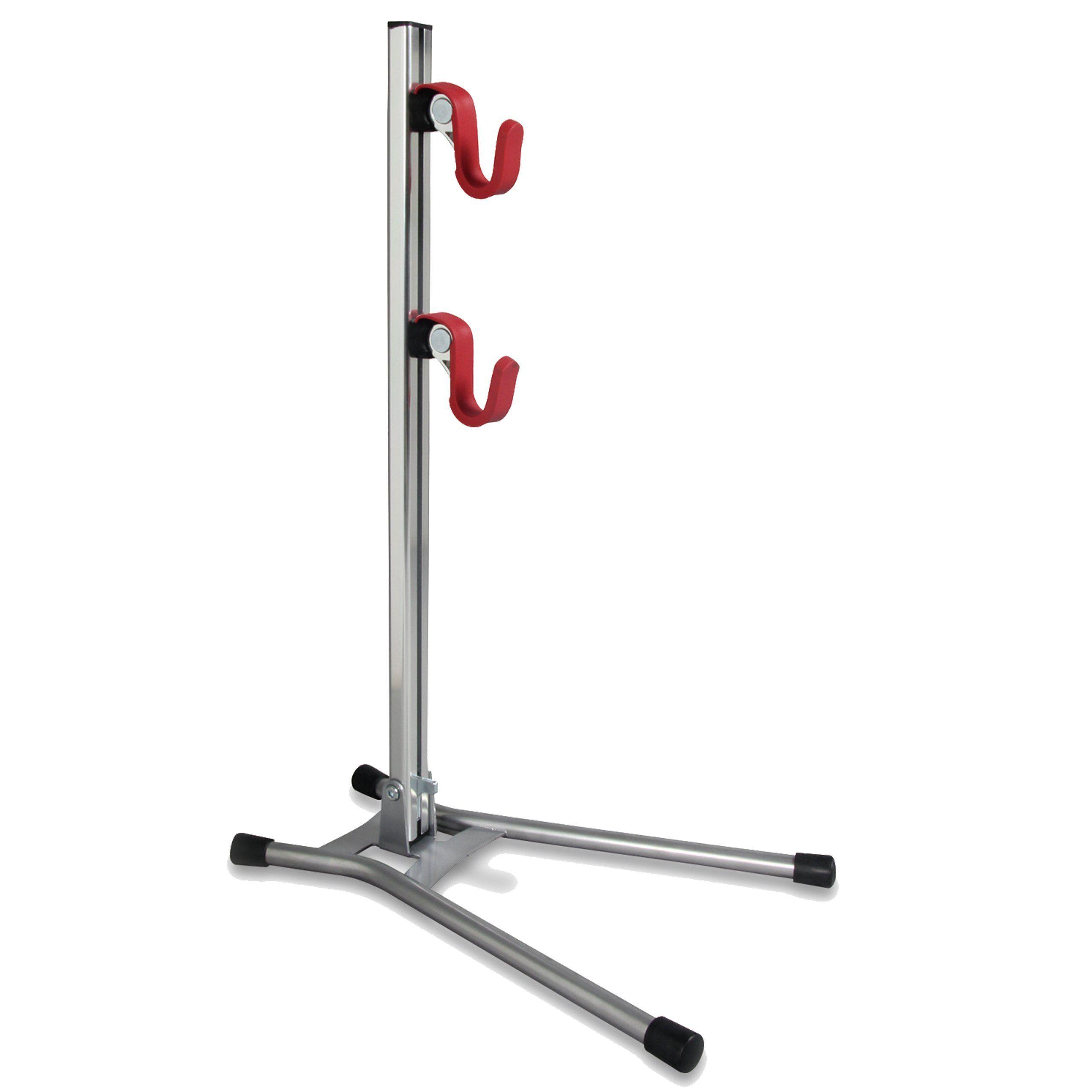 Minoura Display Stand, Silver/Red Indoor bike storage