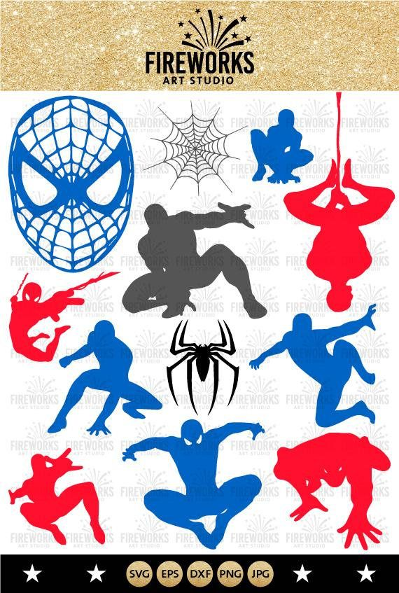 spiderman silhouette spiderman clipart spiderman svg png eps