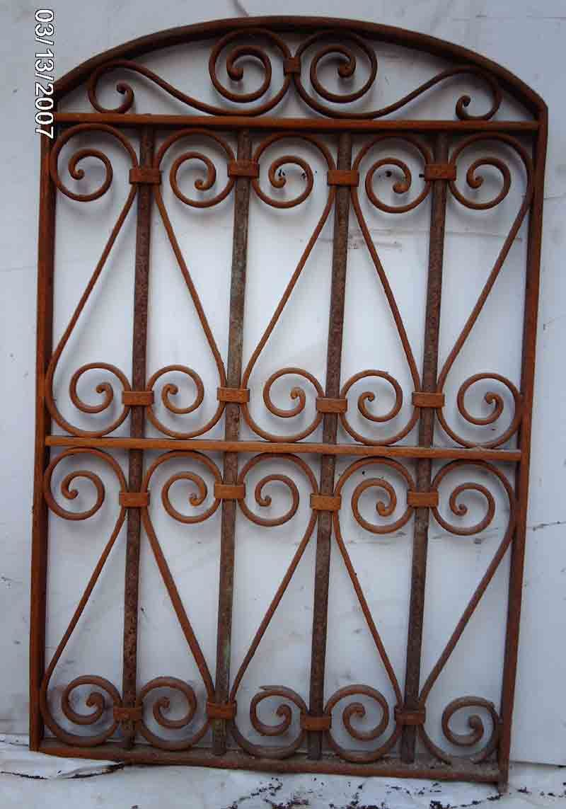 Wrought iron outdoor decor - Wrought Iron Victorian Gate Hanging Wall Garden Decor 6 Click Image To Close