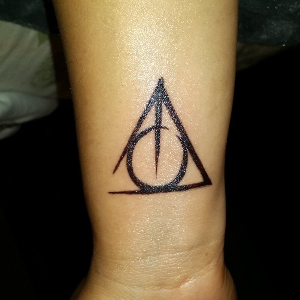 Alternative ink tacoma wa united states my very first tattoo my very first tattoo the deathly hallows symbol from harry potter affordable n the artists r truly talented buycottarizona