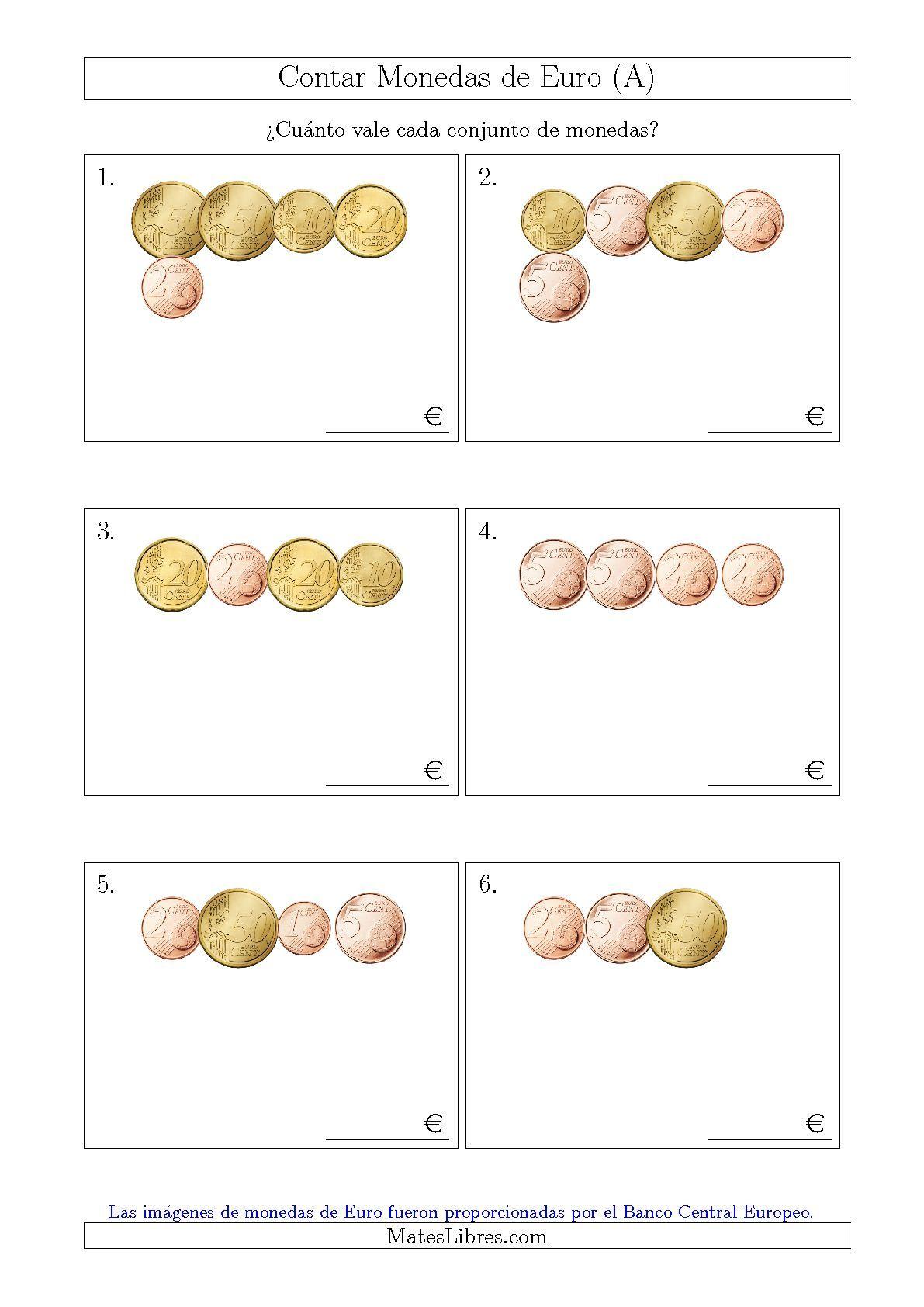 La hoja de ejercicios de matemáticas de Contar Colecciones Pequeñas ...