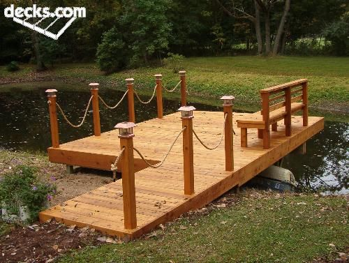 I like the rope as a different way to use railing for deck for Garden decking with rope