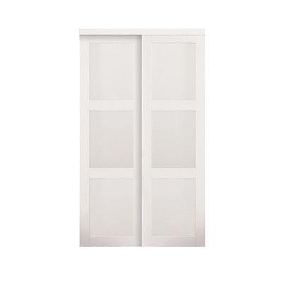 baldarassario mdf 2 panel painted sliding interior door erias home designs baldarassario. Interior Design Ideas. Home Design Ideas
