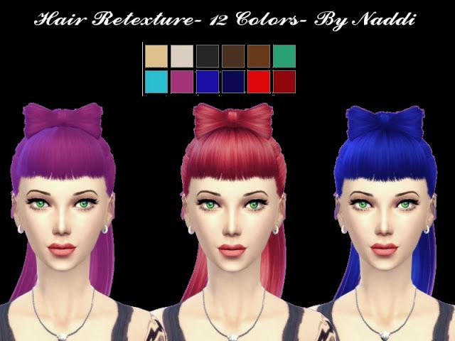 Sims 4 CC's - The Best: Hair Retexture by Naddiswelt