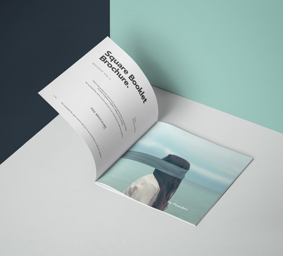 A modern perspective square psd brochure mockup and psd booklet     A modern perspective square psd brochure mockup and psd booklet mockup  template  You can add your own graphics with ease thanks to the smart  layers