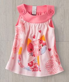 A pretty pink kitty that will quickly become her favorite summer screen print baby dress! Our Water Color Kitty summer dress features a Hallmark artist-designed graphic and is perfect for summer!