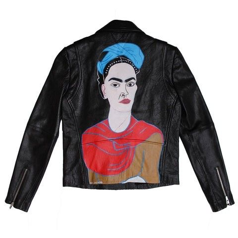 Frida Kahlo leather jacket by Alice Lancaster x VEDA | AnOther Loves