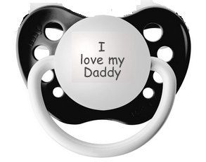 Baby reveal to daddy pregnancy reveal to husband i love my daddy funny baby pacifier i dont get tired binky black binky newborn soothie custom baby gift neutral dummy orthodontic paci nipple negle Gallery