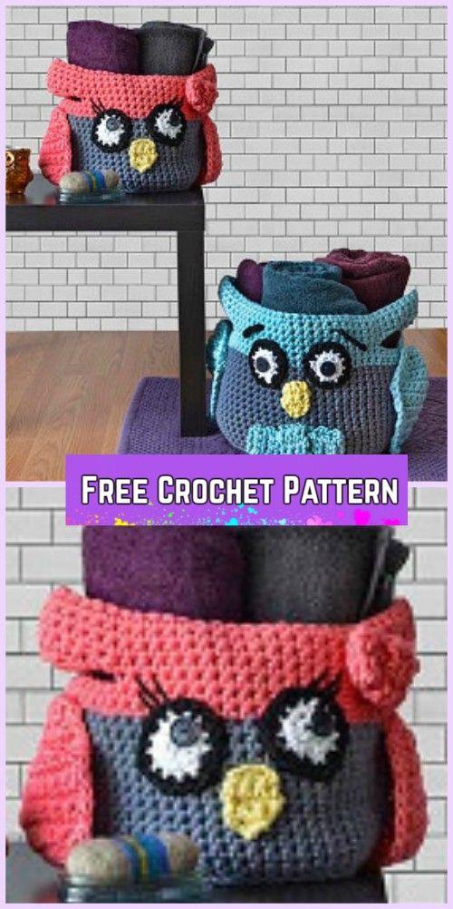 Crochet Owl Basket Free Patterns Crochet Owl And Crochet Owl Basket