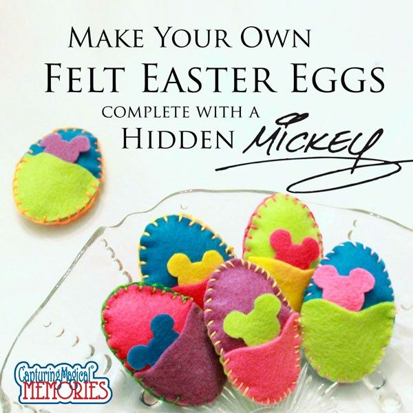 Make Your Own Hidden Mickey Felt #Easter Eggs - #Disney #Craft