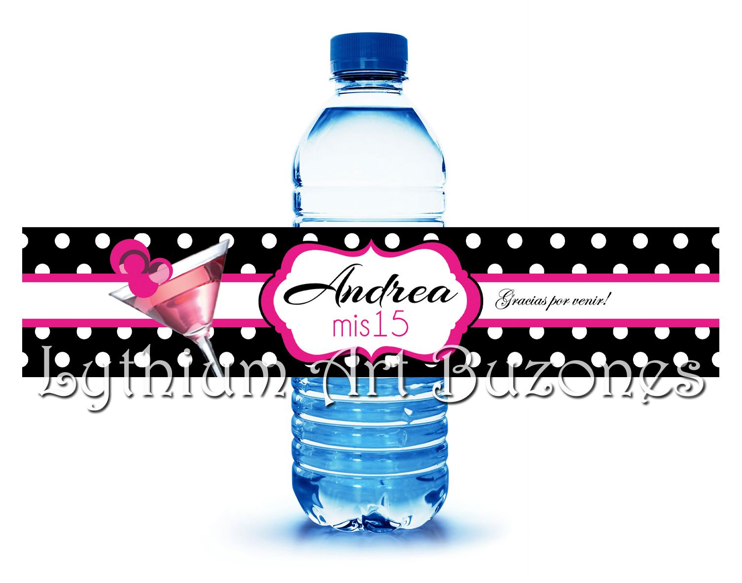 Imbécil Por Grabar  Etiquetas Personalizadas para botellas de agua