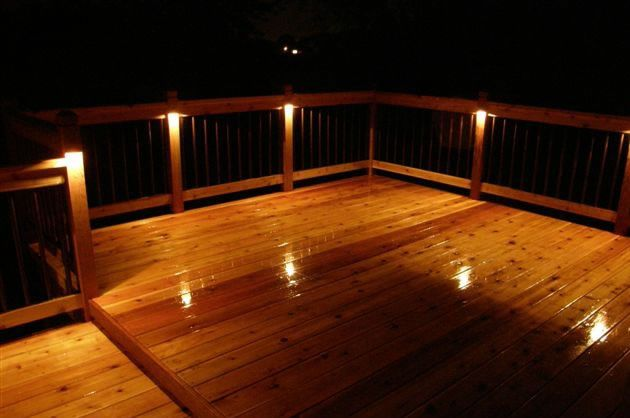 Low Voltage Deck Lighting And Cut Out Flush Mount Lights Installation To