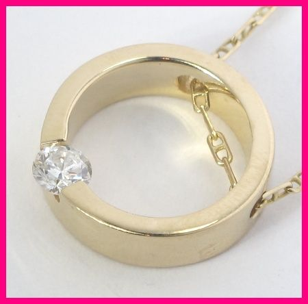 e7fafabd9 Diamond Solitaire necklace jackets | Yellow Gold Solitaire Round Diamond  Circle Pendant Necklace .25ct