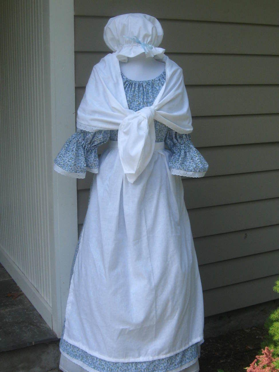 65 Womens Colonial Dress Costume Pioneer Prairie Early