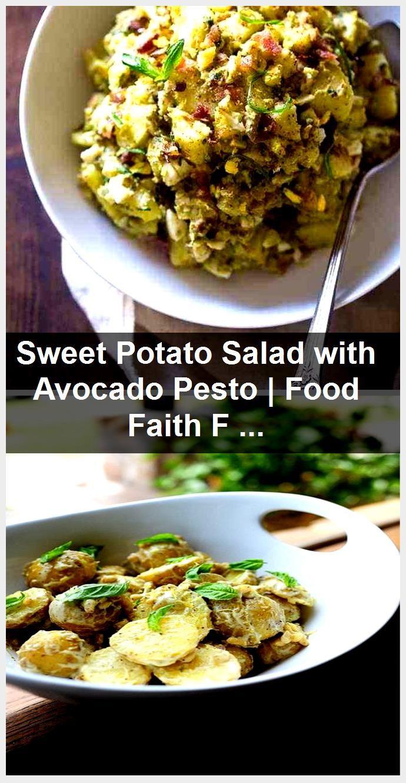 Sweet Potato Salad with Avocado Pesto | Food Faith Fitness,  #Avocado #Faith #Fitness #Food #Pesto #...