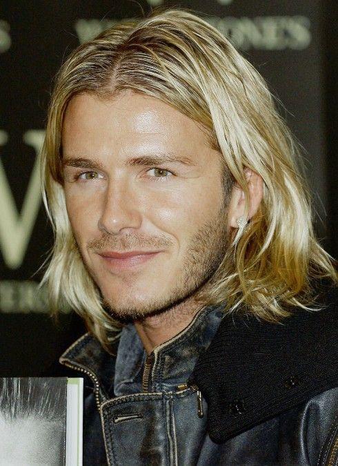 David Beckham Long Hair David Beckham Casual Long Wavy Hairstyle For Men Getty Images David Beckham Long Hair David Beckham Hairstyle Beckham Hair