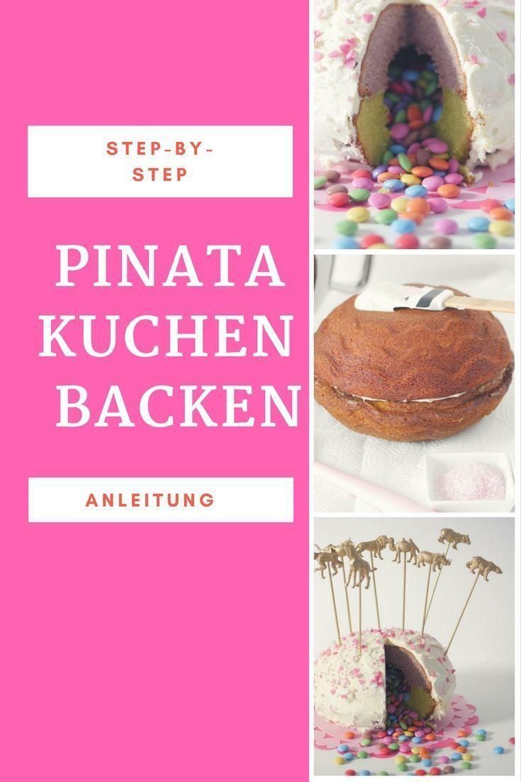 Photo of Piñata Kuchen mit Smarties-Füllung –  Pinata Kuchen Rezept // Kuchen Kindergeb…