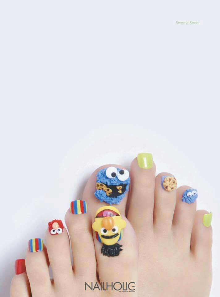 Sesame Street Nail Art 3d Nail Art Pinterest Sesame Streets
