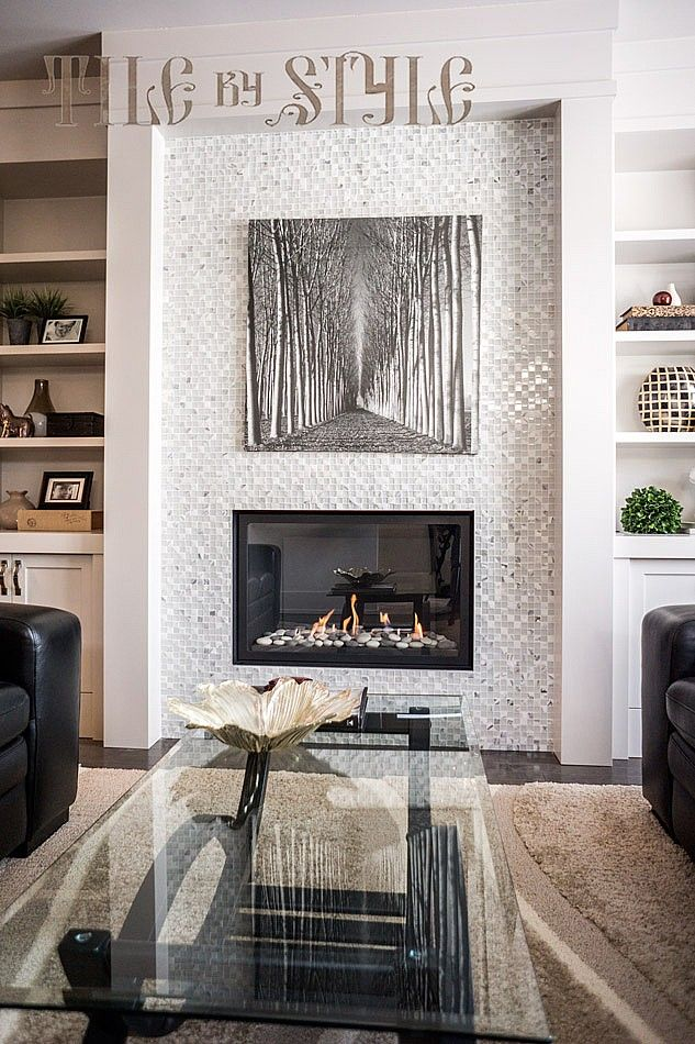 Living Room Fireplace Tile Photo Posted By Style Located