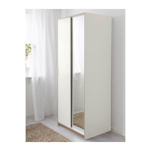 Trysil Armoire Penderie Blanc Miroir Wall Wardrobe Design