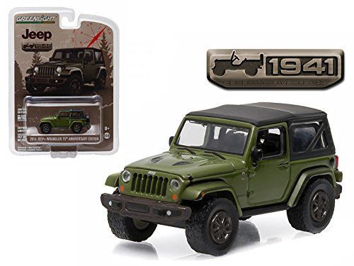 2016 Jeep Wrangler Sarge Green Jeep 75th Anniversary Collection 1 64 Model Car By Greenlight 2016 Jeep Wrangler Green Jeep Diecast Model Cars