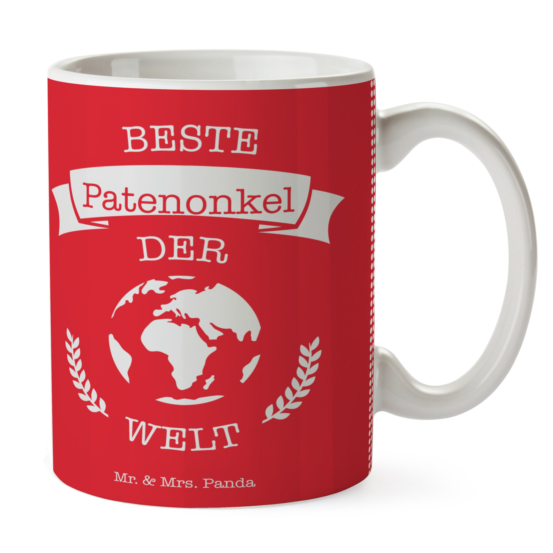 Tasse Welt Geschenk Bester Patenonkel der Welt aus Keramik Weiß Das Original von Mr