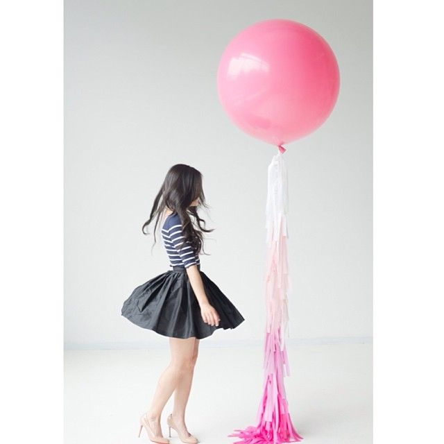 """""""My project 2014 on the blog today.   #confettiandco #fancyfrill #fancyfrillballoon #fancyfrillballoons #handmade #love"""""""