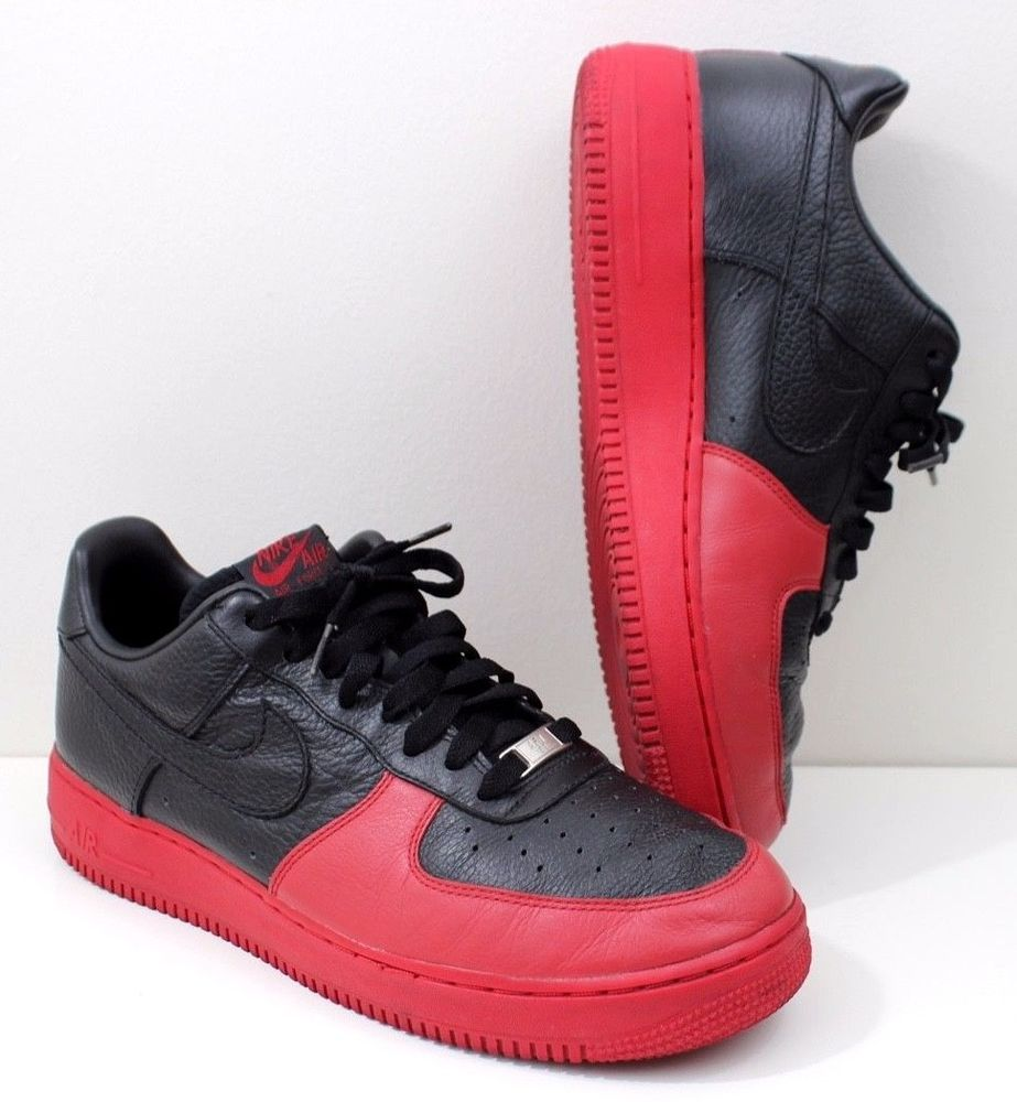 f343141773d1 Nike Air Force One AF1 Premium BRED Black   Red 318274-001 Mens size 10.5   fashion  clothing  shoes  accessories  mensshoes  athleticshoes (ebay link)