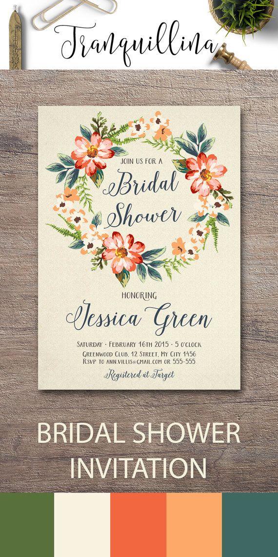 eceeac684d17 Fall Bridal Shower Invitation Printable
