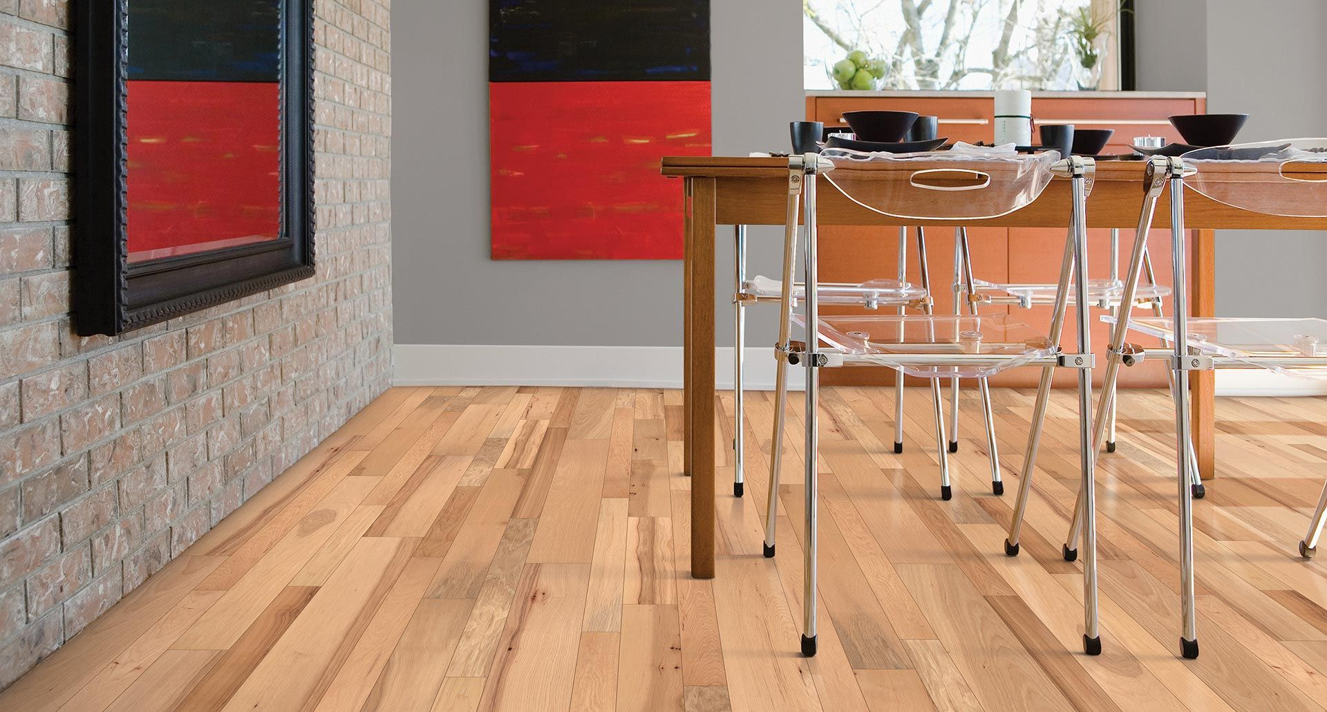 Laminate Or Wood Flooring autumn hickory wire brushed engineered hardwood floor. clear