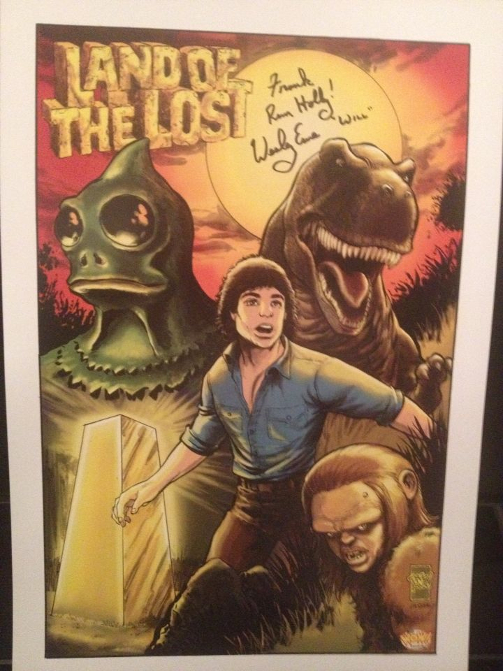 LAND OF THE LOST POSTER signed by Wesley Eure (Will
