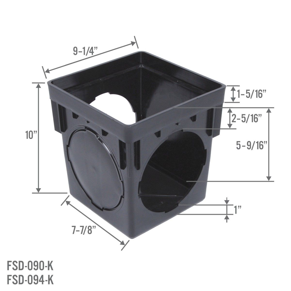 Stormdrain Fsd 094 K 9 Inch Square Black Catch Basin Drain Box Kit With Grate And Debris Trap Filter In 2020 With Images Catch Basin Drain Backyard Drainage Landscape Drainage