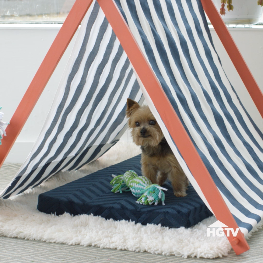 Perfectly Portable Pup Tent for Easy Summer Shade -   18 diy Dog tent ideas
