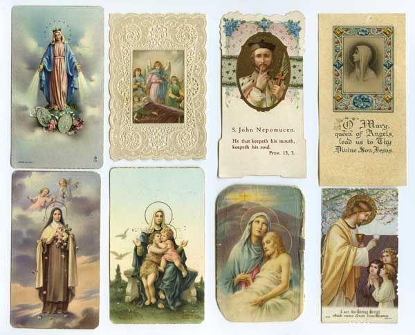 vintage prayer cards :: Lisa Congdon