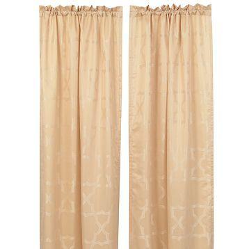 Taupe & Cream Florentine Curtain Panel, Set of 2 | Kirkland's