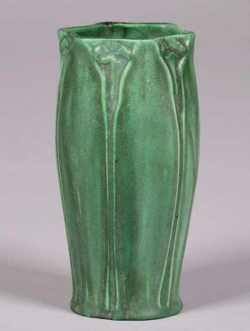 Craven Art Pottery Matte Green Vase William Jervis 1906 On Matte