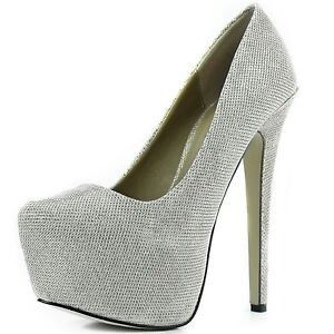 Silver high heels love them!!