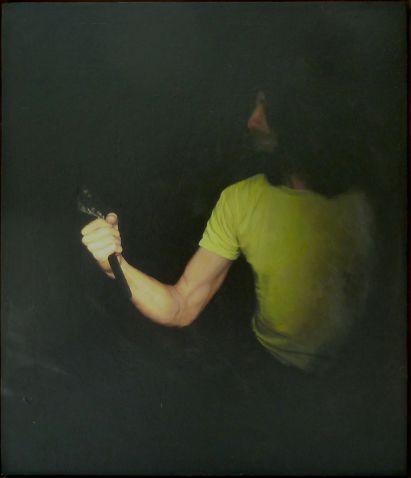 Jochen Görlach, o.T., 2013, Öl auf Holz, 35 x 30 cm