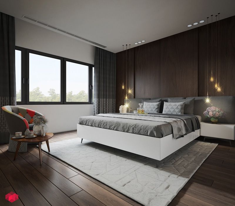 wall texture designs for your living room or bedroom - Dark Wood Living Room 2015