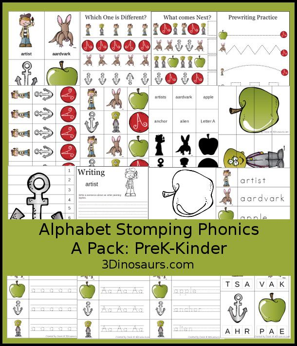 Free Alphabet Stomping Phonics A Pack   Pages Of Activities