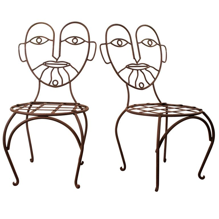 Pair Face Chairs Usa 1960 S Vintage Chairs Shop Chair Unusual