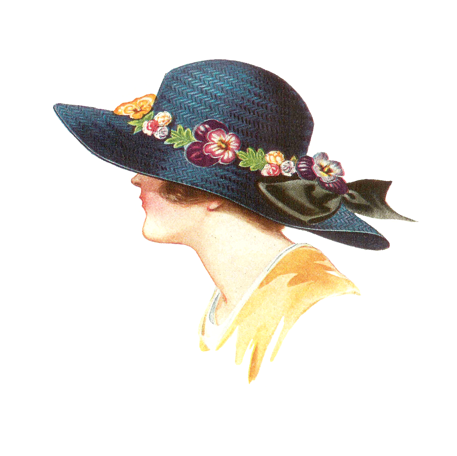 antique images free hat fashion clip art 1915 womens