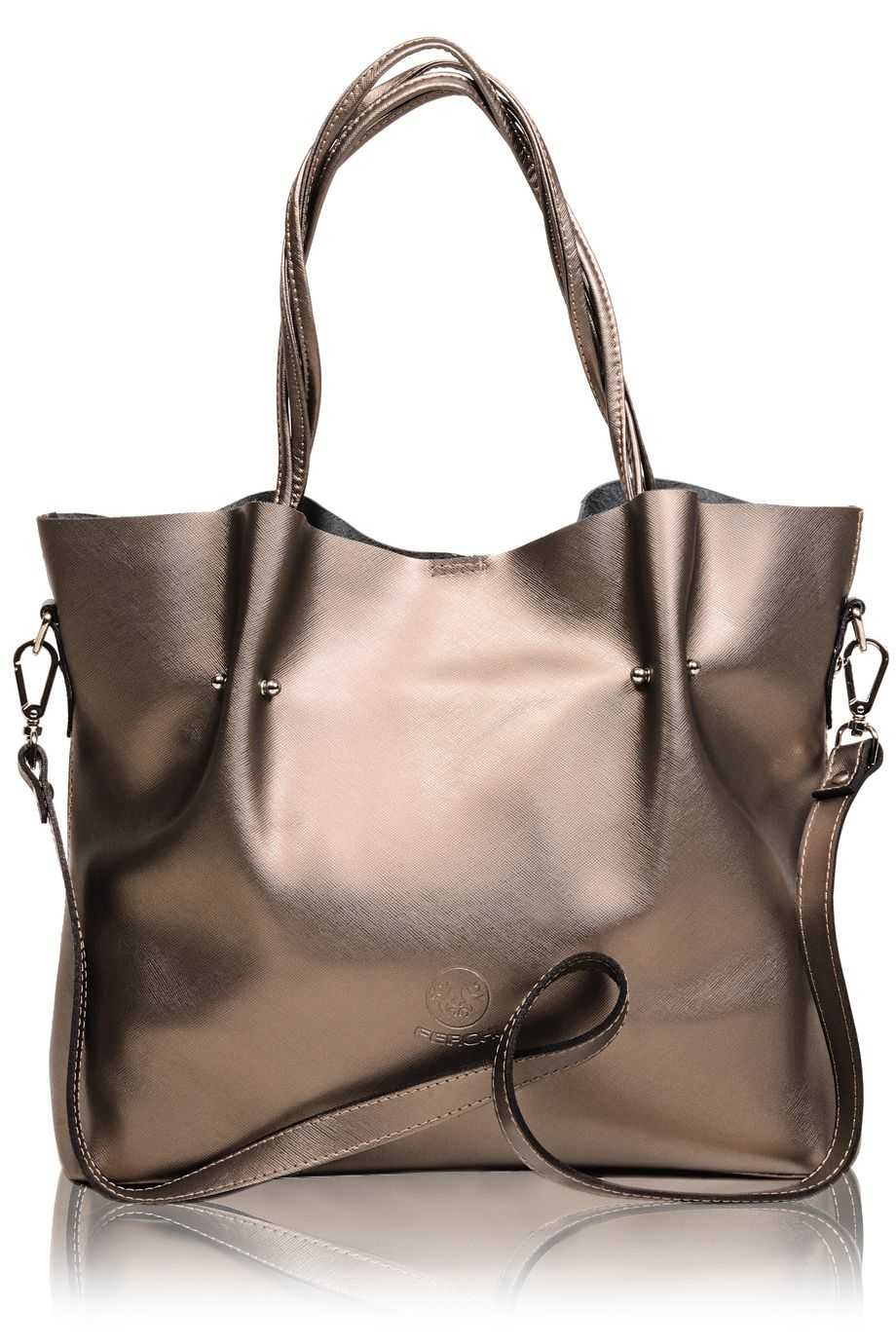FERCHI IZIDA Bronze Leather Tote - ACCESSORIES   BAGS   TOTES   Day   PRET-A-BEAUTE.COM
