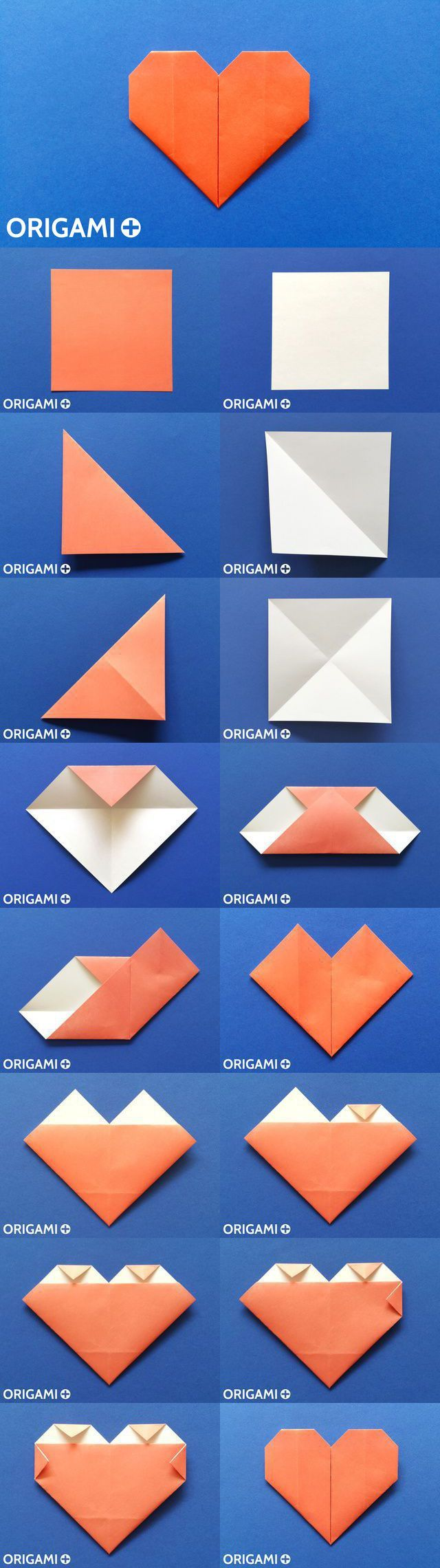 Origami Heart Pinterest And 3d Peacock Diagram Stick Tail Koi