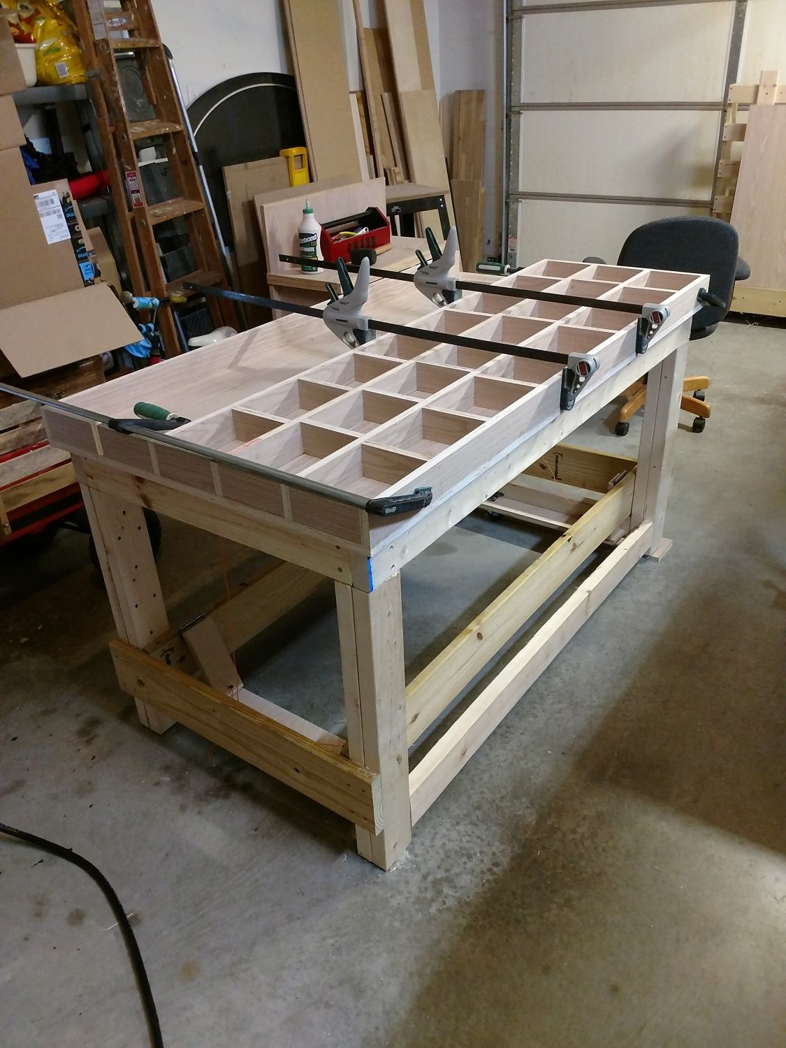 Fine Torsion Box Workbench For My Woodshop What I Did With Ibusinesslaw Wood Chair Design Ideas Ibusinesslaworg