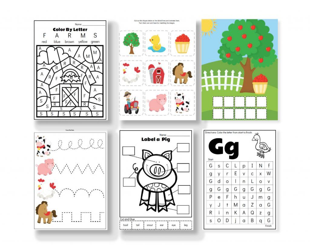 Fun Amp Educational Farm Animal Printables For Preschool