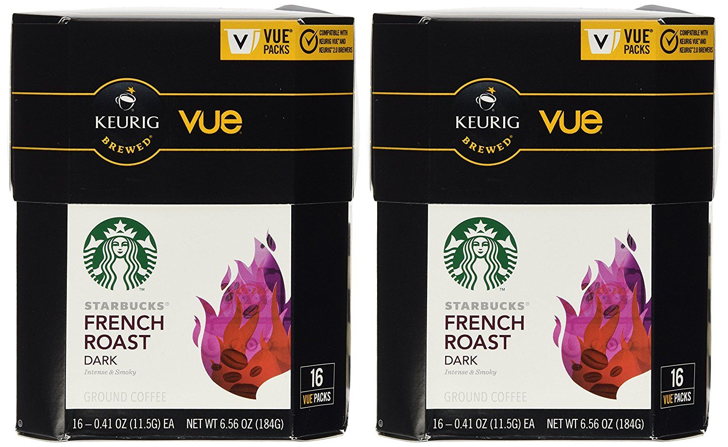 32 Count - Starbucks French Roast Coffee Vue Cup For Keurig Vue Brewers *** Details can be found by clicking on the image.